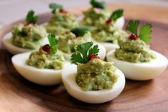 Easy Guacamole Deviled Eggs recipe - Foodista.com