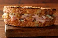 Smoked Turkey Sandwiches with Blue Cheese and Caramelized Onions| Weber.com
