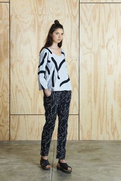 black and white outfit by Australian fashion label Bhalo