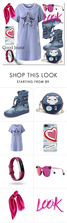 """""""Без названия #2525"""" by ilona-828 ❤ liked on Polyvore featuring Fitbit, Christopher Kane, DKNY, NYX, polyvoreeditorial and alldenim"""