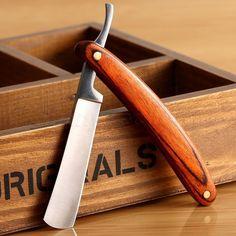 Straight Edge Stainless Steel Wood Handle Barber Razor Folding Shaving Knife Kit   Health & Beauty, Shaving & Hair Removal, Straight Razors   eBay!