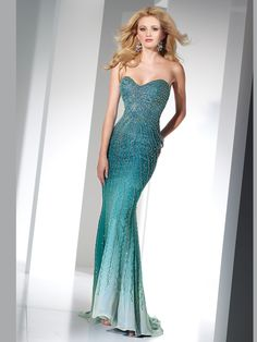 Don't miss out on having the most appealing dress for prom or pageant. Order 2012 Alyce Designs 6803 prom dress. Made fully beaded embellish for a radiant look. The bust has a sweetheart neckline and form fitted throughout the hips. The dress is made of chiffon for a magical fit.
