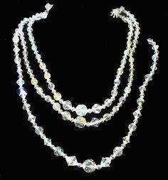 Vintage AB Aurora Borealis TWO Necklaces 1 by LilBlackDressVintage, $29.00
