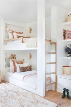 Bunk Beds Small Room, Modern Bunk Beds, Bunk Beds With Stairs, Kids Bunk Beds, Small Rooms, Bed Rooms, Small Spaces, Bunk Bed Designs, Teen Girl Bedrooms