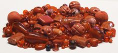 Grab Bag of 4.9 Oz. of Mixed Beads in Shades of Red by BeadsFromHaven on Etsy