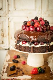 Guinness Chocolate Cake with Ganache Frosting