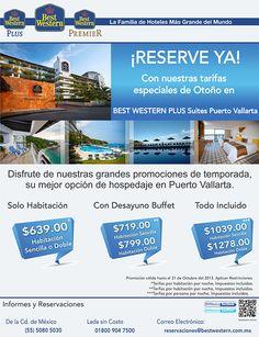 ¡Reserva ya! Con nuestras tarifas especiales de otoño en el Best Western Plus Suites Puerto Vallarta