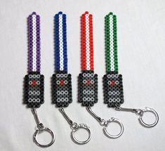 Articles similaires à Sabre laser Star Wars Perler Keychain sur Etsy Perler Bead Designs, Easy Perler Bead Patterns, Melty Bead Patterns, Perler Bead Templates, Hama Beads Design, Diy Perler Beads, Perler Bead Art, Pearler Beads, Beading Patterns