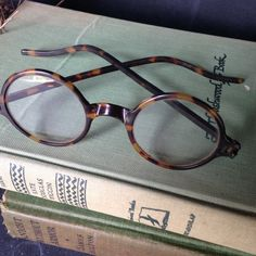 0a54428038c RESERVED for Alan M Vintage round spectacles tortoise shell 1930s eyeglasses