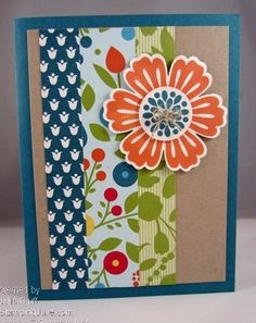 Mixed Bunch - tangerine blossom by juliestamps - Cards and Paper Crafts at Splitcoaststampers