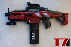 Rapid Fire by PropMastre on DeviantArt Nerf Snipers, Modified Nerf Guns, Cool Nerf Guns, Backyard Fort, Nerf Darts, Nerf Mod, Military Guns, Assault Rifle, Weapons Guns
