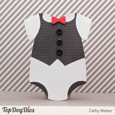 Onesie with Vest Baby Card or Invitation