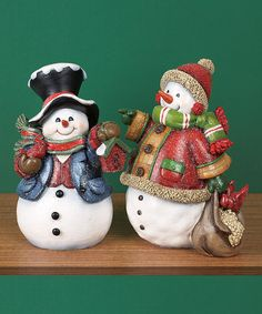 Take a look at this Holiday Snowman Figurine Set by Transpac Imports on #zulily today!