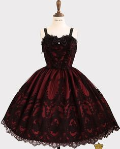 The Promise of Eternal JSK by Haenuli Gothic Lolita Fashion, Gothic Outfits, Edgy Outfits, Pretty Outfits, Pretty Dresses, Beautiful Dresses, Lolita Goth, Gothic Lolita Dress, Kawaii Fashion