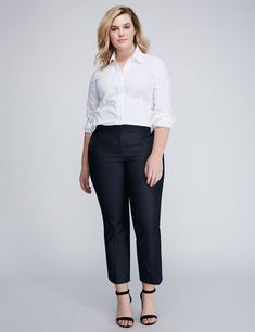 Lena Pinstripe Kick Flare Pant (original price, $39.99) available at #Maurices