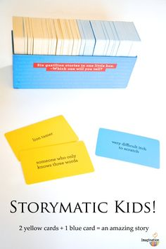 Storymatic Kids!   Simple prompts to encourage creative story-telling