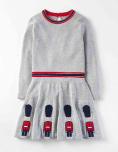 Mini Boden Roald Dahl Knitted Royal Guards Dress