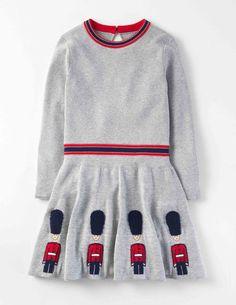 Mini Boden Roald Dahl Knitted Royal Guards Dress