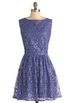 Shimmering Star Dress in Nightfall