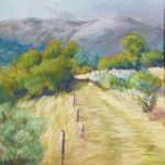 Landscape pastel painting in Pyrénées (France) by Véronique BEC