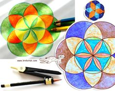 The Flower of Life - with a Pair of COMPASSES