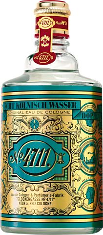 """Eau de Cologne de Citrus with traces of rosemary and lavender, a spicy, ethereal scent for men and women, 4711 originated in Cologne in 1792 as a monk's secret formula for invigorating, medicinal """"miracle water."""" This was Grandma's favourite perfume."""