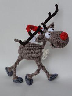 Rudolf the Reindeer Amigurumi Pattern pattern on Craftsy.com