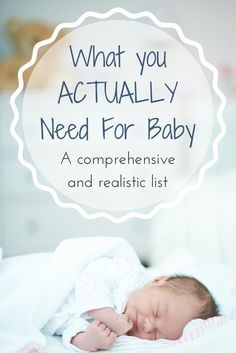 What You ACTUALLY Need For Baby