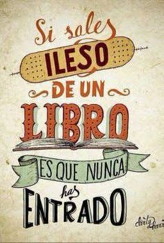 by Dirty Harry I Love Books, Books To Read, My Books, Book Quotes, Life Quotes, Frases Tumblr, I Love Reading, Lectures, Spanish Quotes