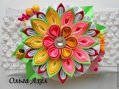 Купить Повязка на голову - разноцветный, повязка на голову, повязка для волос, повязка для девочки, повязка с цветком
