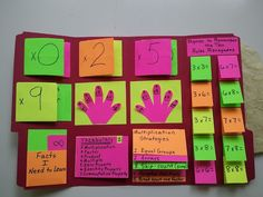 Wow! Super cool multiplication folder, when student is ready to learn multiplication facts.
