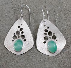 Chrysoprase Teardrop Earrings