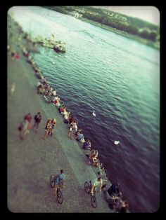 "#river quay on #sunday / ""náplavka"" #prague"