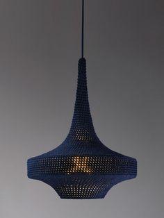 Lámpara de crochet • Naomi Paul's crochet lamp: Glück