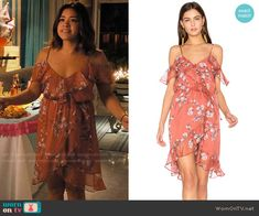 The Jetset Diaries Oasis Mini Dress worn by Gina Rodriguez on Jane the Virgin Dressy Dresses, Summer Dresses, Lace Dresses, Club Dresses, Night Outfits, Fashion Outfits, Trendy Outfits, Celebrity Outfits, Celebrity Style
