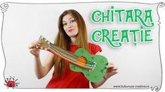 Cum sa faci o Chitara creatie ✂🎸🎶 How to make a Guitar craft Guitar Crafts, Crafts For Kids, Watch, Youtube, How To Make, Crafts For Children, Clock, Kids Arts And Crafts, Bracelet Watch