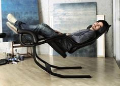 """Gravity balans Chair by-Peter Opsvik. """"The only recliner to offer zero gravity positions from active sitting to relax."""" From Varier Furniture. Cool Furniture, Furniture Design, Office Furniture, Muebles Art Deco, Cool Chairs, Rocking Chair, Chair Design, House Design, Contemporary"""
