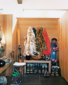 Mountain Mud Room  MOUNTAIN DREAM- Aerin Lauder in Aspen | Mark D. Sikes: Chic People, Glamorous Places, Stylish Things