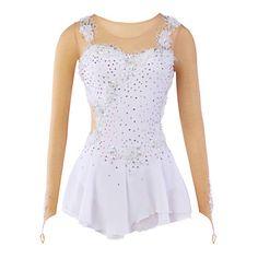 Ice Skating Dress Women's / Kid's / Girl's Skating Dresses High Elasticity Figure Skating Dress Breathable / Wearable Flower(s)Spandex / - USD $ 85.49