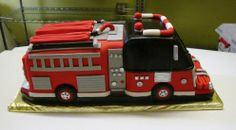 Fire Truck - Birthday Cakes - TipsyCake Chicago