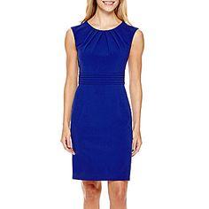 jcp | Chelsea Rose Sleeveless Ruched-Waist Sheath Dress