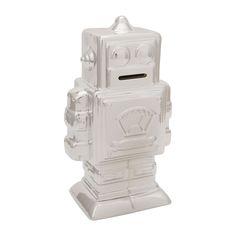 Spaarpot robot XL zilver   Xenos Xl, Lion Sculpture, Statue, Kids, Robot, Young Children, Boys, Children, Robots