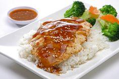 Sabrosos muslos de pollo en salsa agridulce