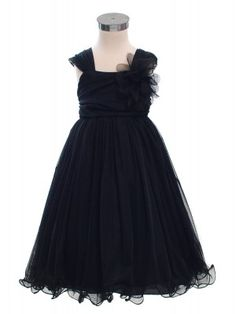 Black Double Layered Mesh Flower Girl Dress (Sizes 2-14) $44.99 Ana Ruth this looks like you!