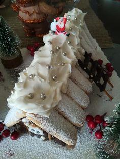 Το πιο εύκολο χριστουγεννιάτικο σπιτάκι με σαντιγί και σαβουαγιάρ Dear Santa, Christmas, Food, Xmas, Essen, Navidad, Meals, Noel, Natal