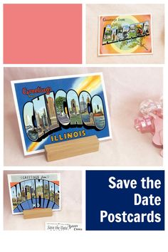 I have Greetings From Save the Date Postcards from all 50 states and a variety of cities. All of my Save the Date postcards can also be changed to have an RSVP Postcards, Change the Date or a message to your guests on the back instead. Just add a note at checkout about what you have in mind and I'll do a custom design, just for you! CuttingItUp.etsy.com Basketball Wedding, Football Wedding, Sports Wedding, Rsvp Postcards, Save The Date Postcards, Reception Signs, Wedding Reception, Wedding Ideas, Ticket Invitation