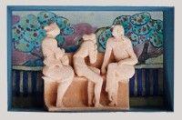 Keramikmuseum Westerwald - 'Siesta im Park' (museum-digital:rheinland-pfalz)Gisela Schmidt-Reuther, Rengsdorf, 1980