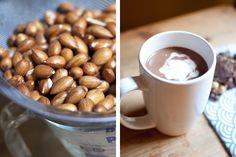homemade almond hot chocolate