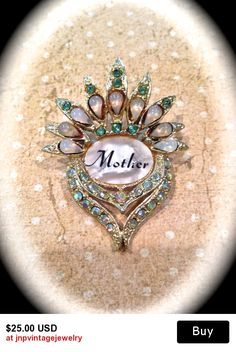 Beautiful mother of pearl brooch