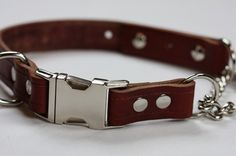 Hey, I found this really awesome Etsy listing at https://www.etsy.com/listing/57231870/leather-dog-collar-buckle-chain
